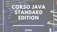 Corso java Standard Edition