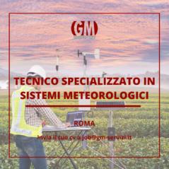 Tecnico Specializzato in Sistemi Meteorologici