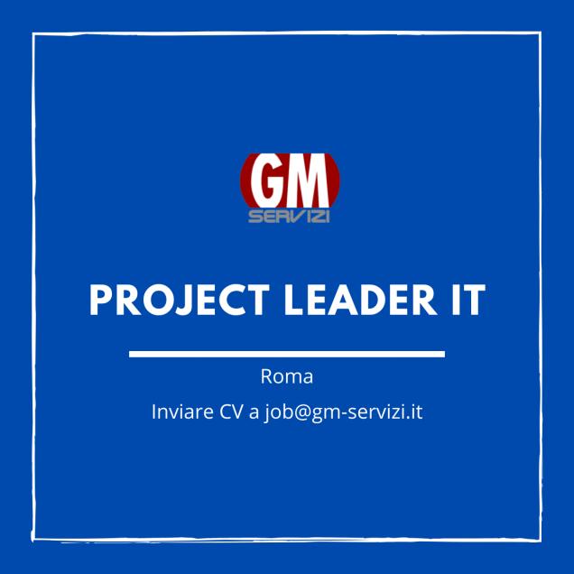 GM Servizi ! posizione aperta Project Leader IT