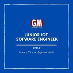 GM Servizi: posizione aperta Junior IoT SW Engineer