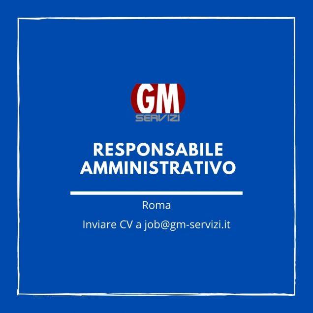 GM Servizi: posizione aperta Responsabile amministrativo